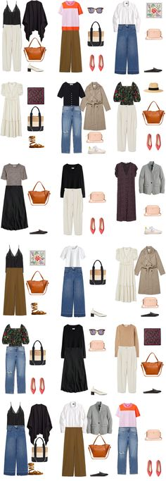 A Romantic Capsule Wardrobe for Spring and Summer Capsule Wardrobe Mom, Preppy Wardrobe, Neutral Outfit, Simple Outfits, Long Sleeve Sweater, Colorful Shirts, Ideias Fashion, Fashion Looks, Style Fashion