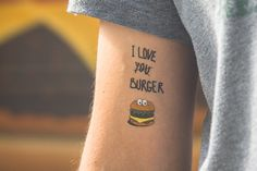 TEMPORARY TATTOO - burger by TATTOOTATTAA on Etsy https://www.etsy.com/listing/163790990/temporary-tattoo-burger