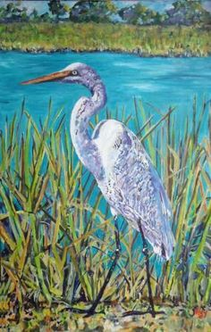 Shore Bird Painting by Kim Rody.
