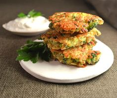 Broccoli Cheddar Jalapeno & Quinoa Fritters ~ Served with Lime Wedges and Lite Sour Cream