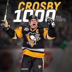 """7,287 Likes, 169 Comments - Pittsburgh Penguins (@penguins) on Instagram: """"Mr. 1️⃣0️⃣0️⃣0️⃣ #Crosby1000"""""""