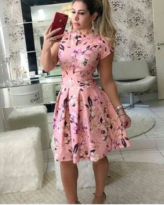 Swans Style is the top online fashion store for women. Shop sexy club dresses, jeans, shoes, bodysuits, skirts and more. Fall Floral Dress, Flowery Dresses, Pretty Dresses, Beautiful Dresses, Modest Wear, Modest Outfits, Dress Outfits, Cute Fashion, Modest Fashion