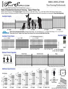 Style A Residential Aluminum Fence