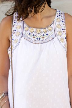white printed dress   the perfect summer dress for everyone! #women #fashion #style