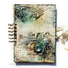Misted - Art Journal cover by finnabair, via Flickr
