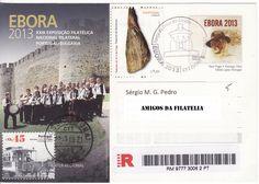 Bilhete postal EBORA 2013 com carimbo comemorativo da Praça do Giraldo - Évora e marca dia de Évora EC 9