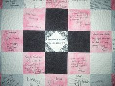 Guest Book Wedding Quilt-wedding guest book wedding keepsake