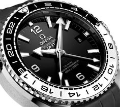 The new Omega Seamaster Planet Ocean Master Chronometer GMT watch for Baselworld 2016 with images, price, background, specs, & our analysis. Omega Seamaster 007, Omega Seamaster Quartz, Omega Seamaster Planet Ocean, Omega Seamaster Automatic, Best Watches For Men, Luxury Watches For Men, Cool Watches, Casual Watches, Men Watches