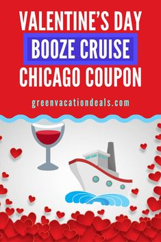 Valentine's Day Booze Cruise Chicago Coupon - Whether you are celebrating love or looking for it, come out on a Valentine's Day Booze Cruise on - Vacation Deals, Travel Deals, Travel Hacks, Travel Essentials, Travel Destinations, Travel Tips, Romantic Vacations, Romantic Getaways, Bourbon Tour