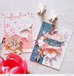 Hey there crafty peeps, Zsoka here with you today to share my latest cards I've made for the Paige Evans + Silhouette Design Team! Scrapbooking, Scrapbook Cards, Scrapbook Layouts, Paper Cards, Diy Cards, Craft Cards, Crate Paper, Card Making Inspiration, Creative Cards