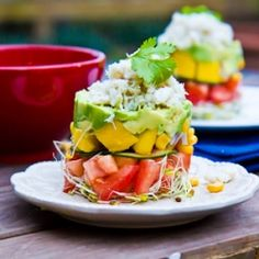 Avocado , Mango and Crab Stacks by immaeatthat #Salad #Stack #Crab #Avocado #Mango