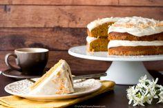 Pumpkin Layer Cake Recipe from Crunchy Creamy Sweet >> #WorldMarket Fall Harvest, Entertainment ideas, Fall Recipes, Pumpkin, Dessert