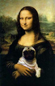 The Mona Lisa with a pug
