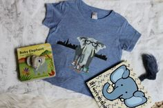 Hipster Elephant Tri Blend Infant Tee or Lap Tee