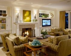 I think built ins with transom type windows above would look great in my living room and increase the natural lighting tremendously. Living Room Furniture Arrangement, Living Room Furniture Layout, Interior Design Living Room, Pallet Furniture, Home Furniture, Furniture Design, Fireplace Furniture, Furniture Ideas, Furniture Stores