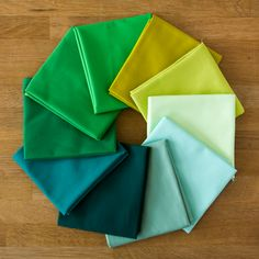 March 2016 Colour of the Month Club Kona Cotton Solids bundle from The Village Haberdashery