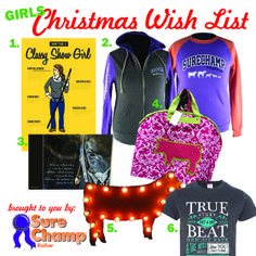 Our Classy Show Girl Shirt made the Sure Champ Christmas Wish List! Buy yours here: http://agrarianapparel.com/classy-show-girl-shirt/