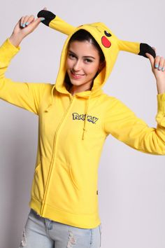 Unisex Pokemon Pikachu Hoodie
