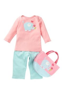 Best of Chums Elephant Tee, Pant, & Tote Set