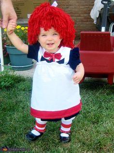 Raggedy Ann homemade costume - cute!   great pics