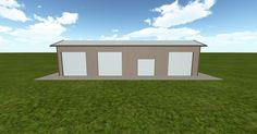 3D #architecture via @themuellerinc http://ift.tt/2Bh8FoS #barn #workshop #greenhouse #garage #DIY