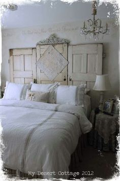 Pretty, but not so much with the tile, maybe just a smaller rectangular plate across the middle door.... \ headboard