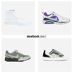 Sneakerness: Der weiße SK8-Hi von Vans ist wieder verfügbar, der Air Max Trax und Nike Pegasus fallen mit einer schönen Farbkombo auf und der Sneaker von Raf Simons ist für Extravagante. Hier entdecken und shoppen: http://sturbock.me/tXm