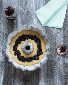 Coconut Black Currant Blueberry Bundt Cake with White Chocolate Cream Cheese Frosting - Pineapple and Coconut