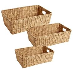 Optimize your space with the versatility of our water hyacinth storage basket. Easily sliding under your bed, the durability of this woven bin holds linens, clothes, toys and more.   (Extra long for bathroom)