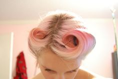 Special Effects Cupcake Pink diluted with conditioner, on bleached white hair.