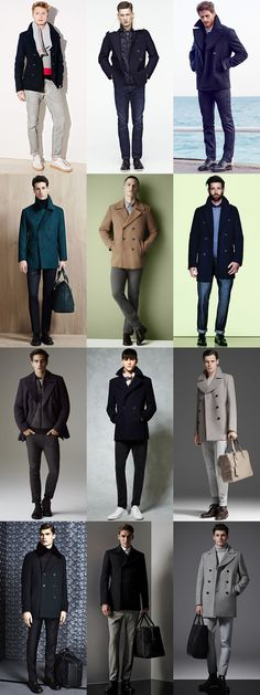 Men's Pea Coat Outfit Inspiration Lookbook