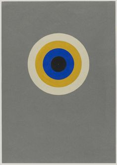 Colour Circle black, blue, yellow and white, Preliminary Course by Kandinsky, author: Heinrich Neuy, Bauhaus Dessau, 1930. Bauhaus-Archiv Berlin / © Hedwig Seegers.