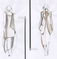 Fashion Sketchbook - fashion design drawings; final collection sketches; fashion portfolio // Louise Bennetts