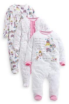 Three Pack Fairy Story Sleepsuit