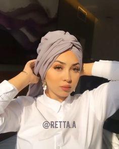 Head Scarf Tutorial, Turban Tutorial, Pashmina Hijab Tutorial, Hijab Style Tutorial, Mode Turban, Turban Hijab, Hijab Wedding Dresses, Hijab Bride, Modest Fashion