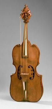 Lira da braccio by Giovanni d'Andrea, Verona, Italy, 1511 {Kunsthistorisches Museum Vienna Collection of Ancient Musical Instruments}
