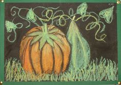 Kids Artists: Pumpkins in moonlight