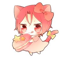 Yummy treat ...  From nrmimi_ ... Free! - Iwatobi Swim Club, free!, iwatobi, rin matsuoka, matsuoka, rin, cat, neko