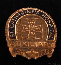 ST. CATHERINE'S HOSPITAL - Auxiliary 500 Hours PIN in Collectibles, Science & Medicine (1930-Now), Medicine, Dentistry | eBay