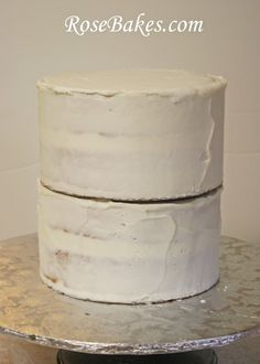How to stack a double-barrel cake.