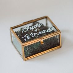 Ringbox made of glass – individually labeled – gold, copper, silver, black - Heiraten Ring Pillow Wedding, Wedding Ring, Wedding Dress, Ring Pillows, Cushion Ring, Factory Design, Wedding Logos, Pillow Box, Giveaway