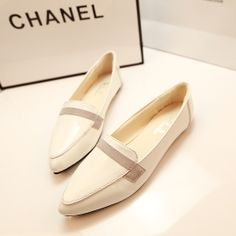 2014 spring small pointed toe single shoes flat heel casual female shoes fashion brief solid color all-match flat US $5.59