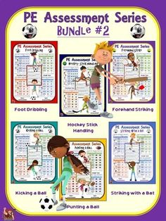 PE Assessment Series: Super Bundle: 24 Skill and Movement Assessment Packages Gymnastics Lessons, Elementary Pe, Pe Activities, Summative Assessment, Pe Ideas, Planning And Organizing, Pre And Post, Task Cards, Physical Education