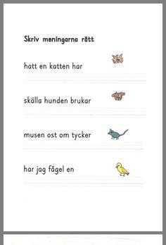 Swedish Language, Dyslexia, Future Classroom, Preschool, Teacher, Education, Free Stuff, Studying, F1