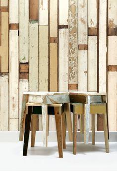 Scrapwood Wallpaper By Peit Hein Eek