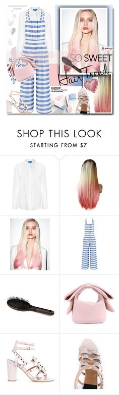 """""""Uniwigs: So Sweet! Pink hair-hair trend"""" by hamaly ❤ liked on Polyvore featuring Sephora Collection, MiH, VIVETTA, Simone Rocha, Laurence Dacade, Too Faced Cosmetics, women's clothing, women's fashion, women and female"""