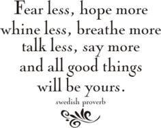 swedish proverb.