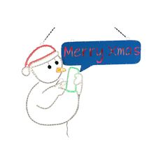 Neo 2-D LED Texting Snowman