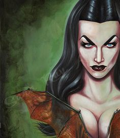 Hey, I found this really awesome Etsy listing at https://www.etsy.com/listing/167005014/vampira-prints-from-original-oil-on