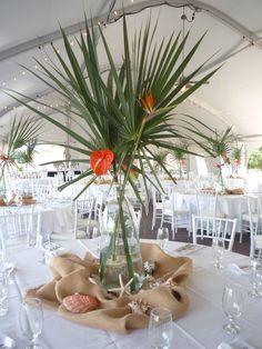 Inspiration Centre De Table Tropical Wedding CenterpiecesTropical